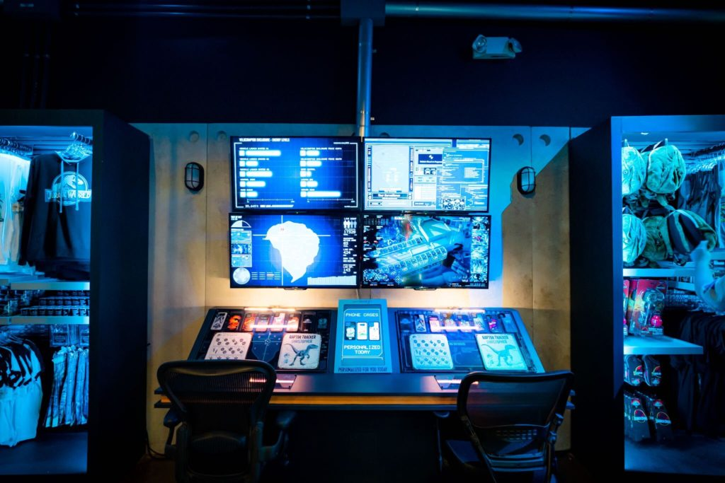 The Control Room in the Jurassic World Tribute Store