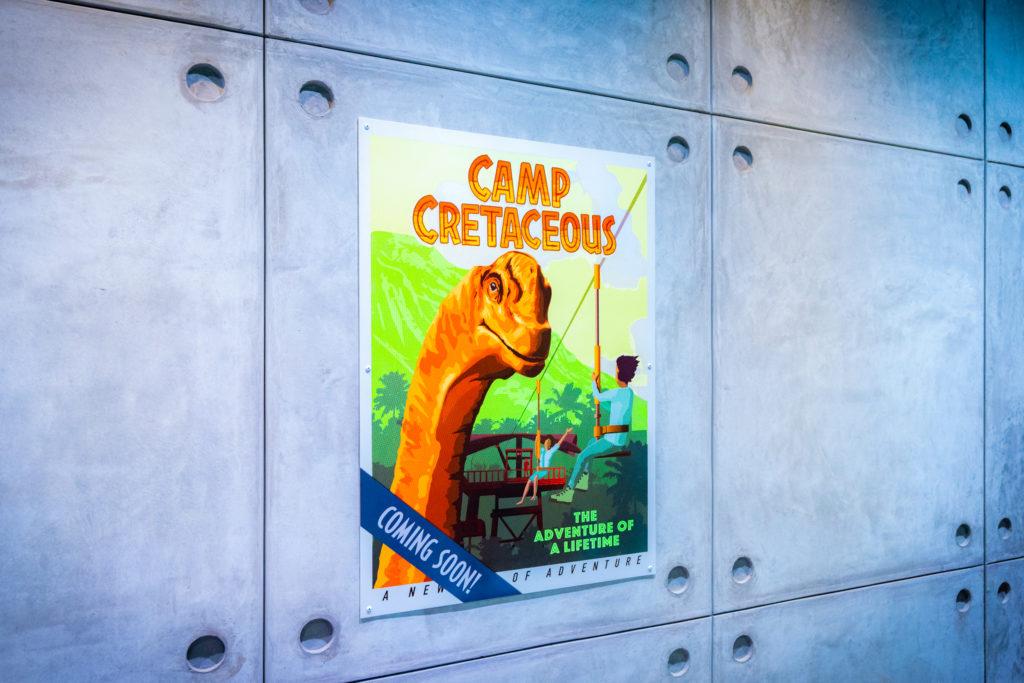 Jurassic World VelociCoaster queue posters