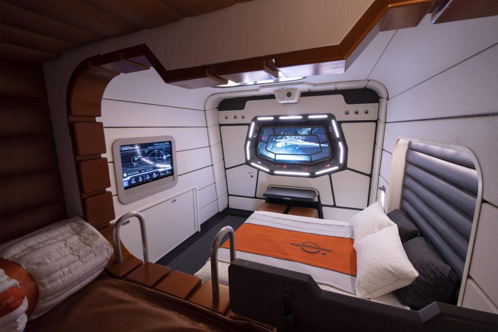 Passenger cabin at Star Wars: Galactic Starcruiser