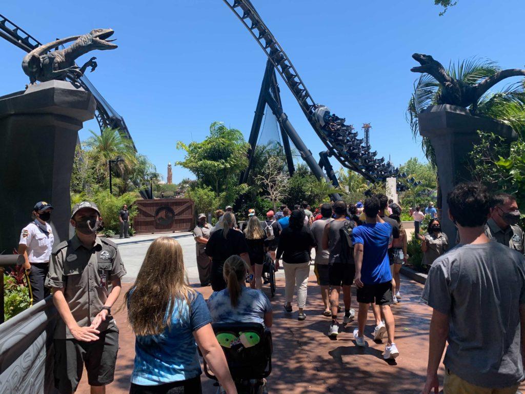 Technical reharsals begin at Jurassic World VelociCoaster