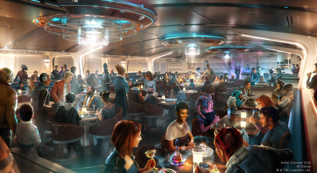 Crown of Corellia Dining Room at Star Wars: Galactic Starcruiser