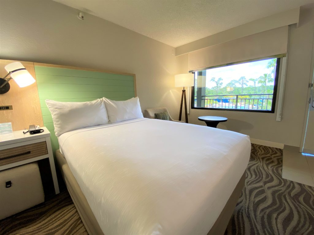 A renovated hotel room at Wyndham Garden Lake Buena Vista
