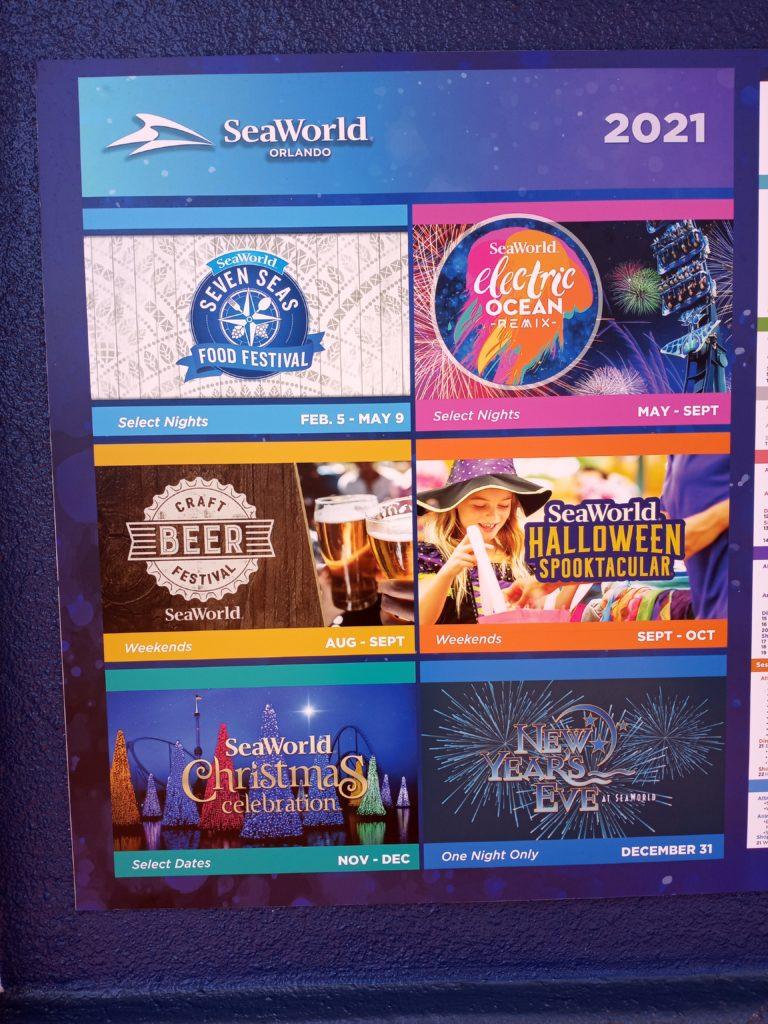 Festival schedule at SeaWorld Orlando