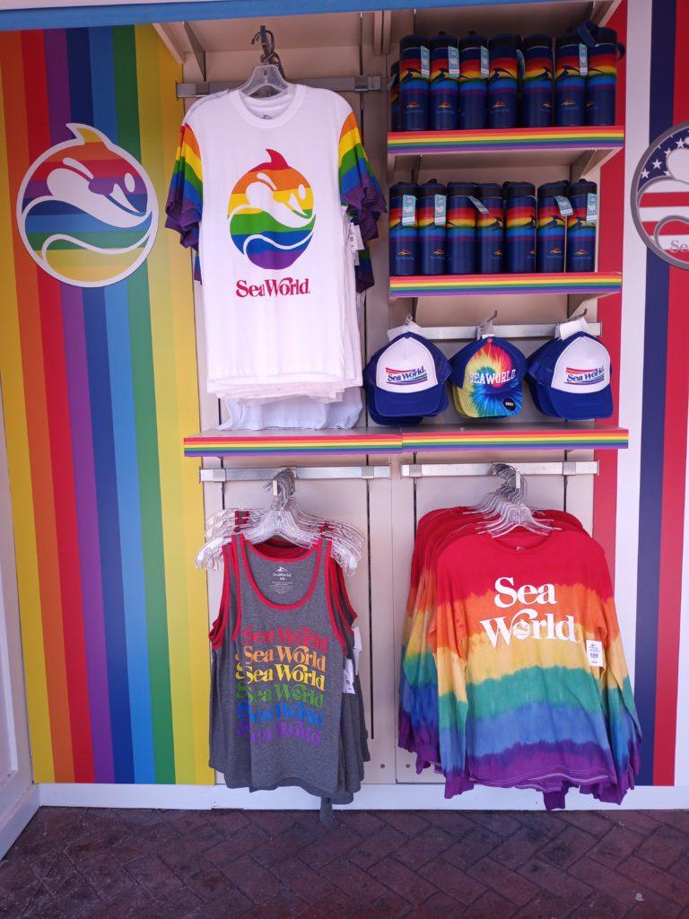 Pride merch at SeaWorld Orlando