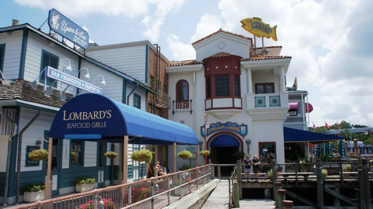 Entrance to Lombard's Seafood Grille on the wharf