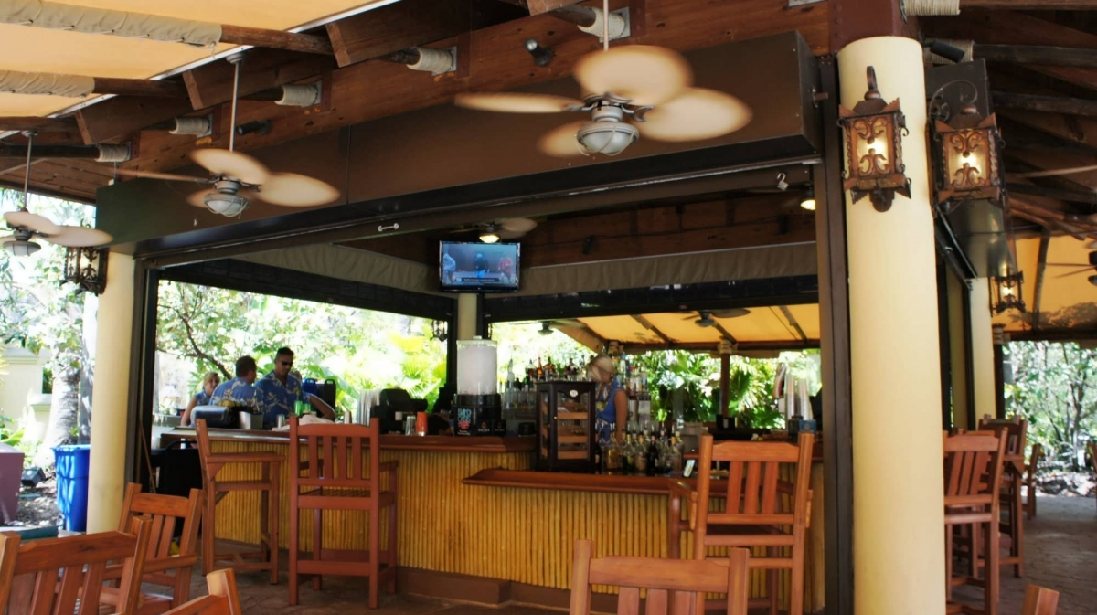 The bar area at Bula Bar & Grille at Royal Pacific Resort