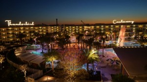 Cabana Bay during Dusk at Universal Orlando Resort