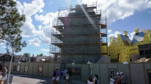 The Wizarding World of Harry Potter - Diagon Alley Construction October 18, 2013