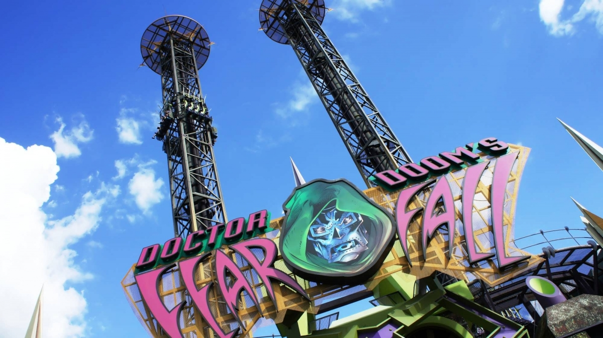 Doctor Doom S Fearfall At Universal S Islands Of Adventure