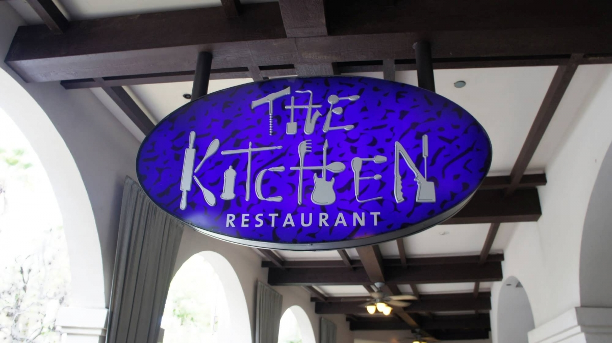 The sign at the entrance to The Kitchen at Hard Rock Hotel