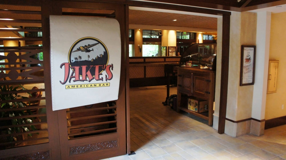 The entrance to Jake's American Bar at Royal Pacific Resort
