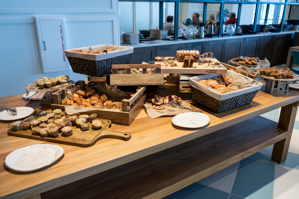 Pastry selection from the breakfast buffet at Amatista Cookhouse