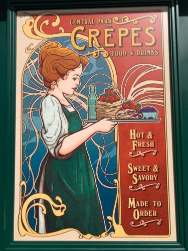 Central Park Crepes in Universal Studios Florida