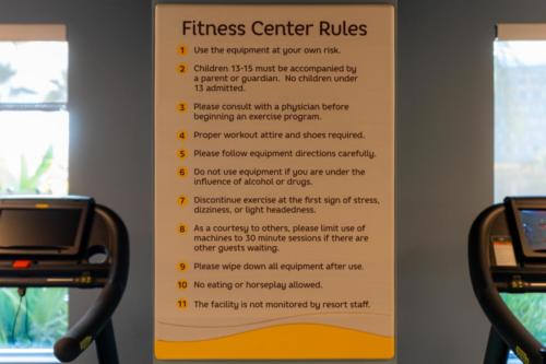 Fitness center at Dockside Inn and Suites