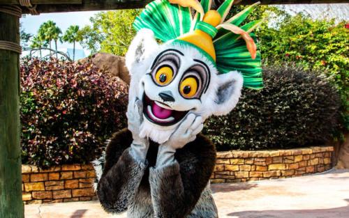 King Julien at Universal Studios Florida's DreamWorks Destination