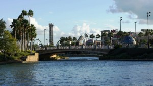 Walk from Hard Rock Hotel to Universal Studios Florida.