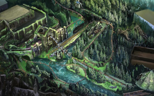 Hagrid's Magical Creatures Motorbike Adventure track layout