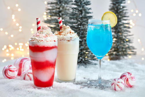 Frozen Candy Cane, Frozen Eggnog, and Jack Frost Drinks at Universal Orlando's Holidays 2019