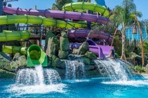 Ohyah and Ohno Drop Slides at Universal's Volcano Bay