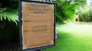 Public spaces at Loews Royal Pacific Resort.