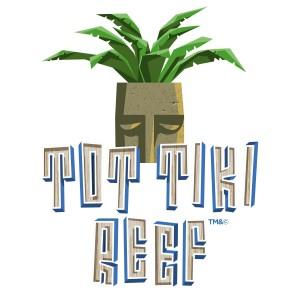 Tot Tiki Reef logo at Universal's Volcano Bay