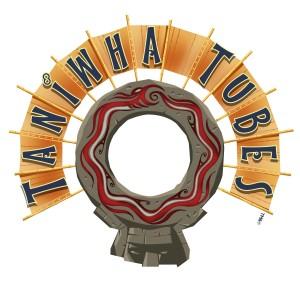 Taniwha Tubes logo at Universal's Volcano Bay
