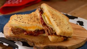 BBQ Brisket Melt at Woody's Lunch Box