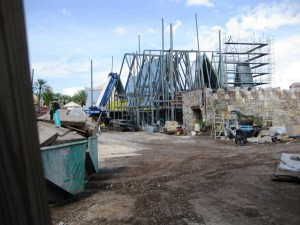The Wizarding World of Harry Potter Hogsmeade construction at Universal's Islands of Adventure - June 27, 2009
