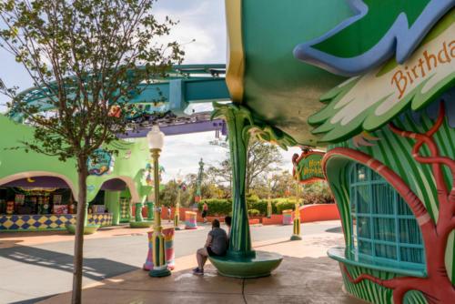 Honk Honkers beneath the Seuss Trolley Train track