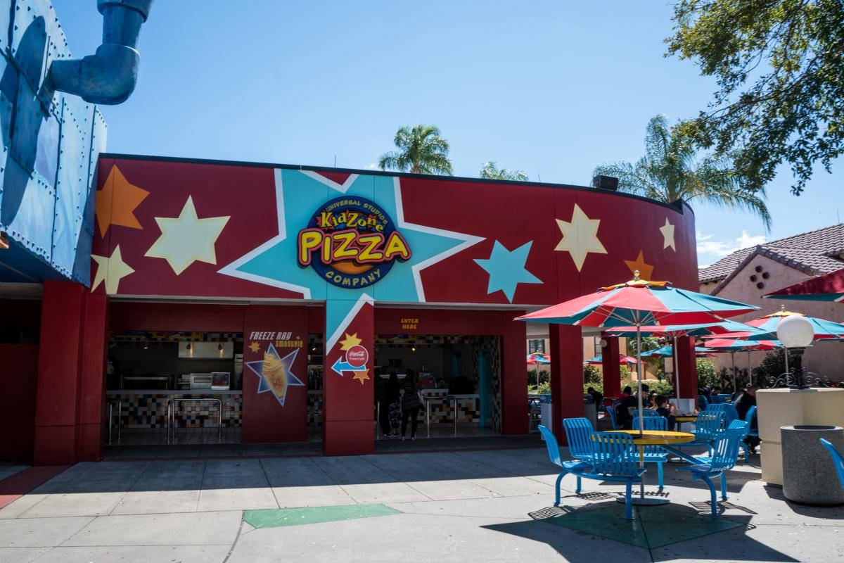 Exterior facade of KidZone Pizza Company