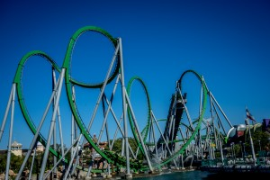 Old Incredible Hulk Coaster at Universal's Islands of Adventure