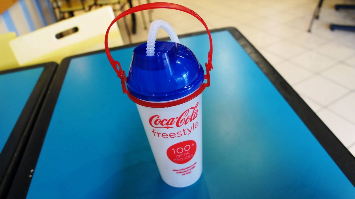 Refillable cups, popcorn buckets, and Coke Freestyle at