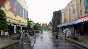 Rainy day at Universal Orlando Resort
