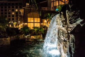 Loews Sapphire Falls Resort Lagoon and Waterfall at Universal Orlando