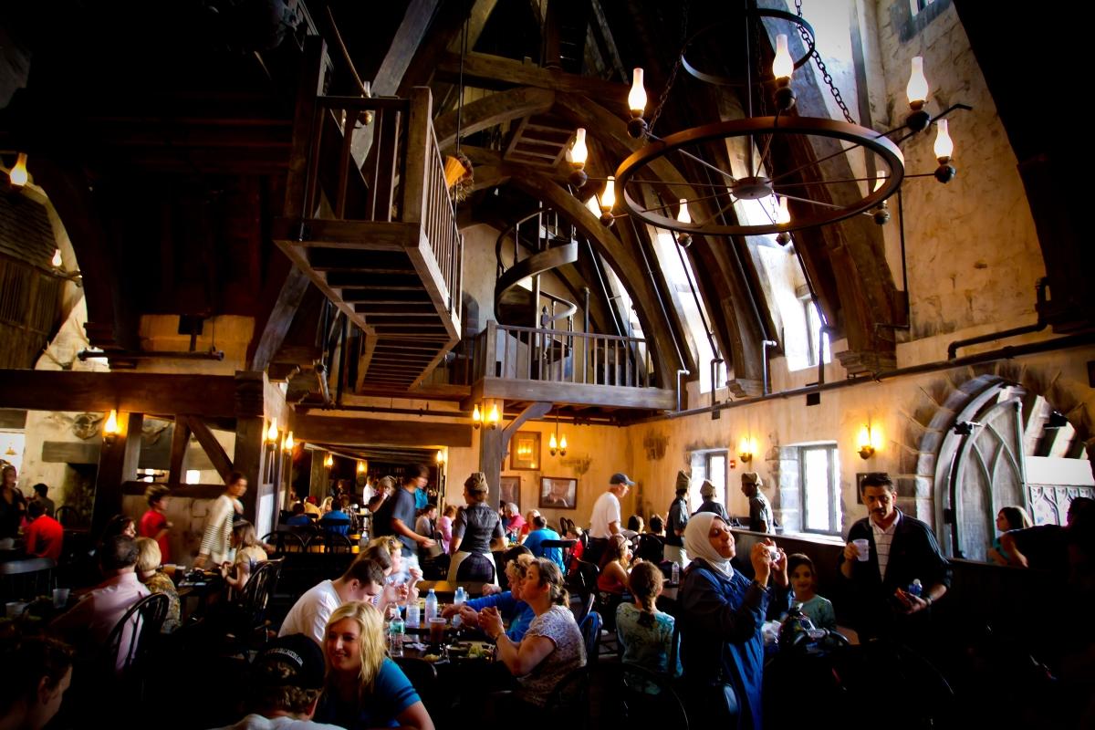 Interior dining room at Three Broomsticks